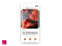 Happy News - Good news mobile app concept product interface parallax news concept ui invision invisionstudio interaction swipe app