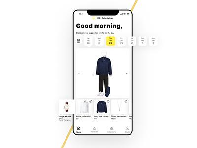 Virtual wardrobe mobile app mobile ios app fashion figma concept ui new dribbble design