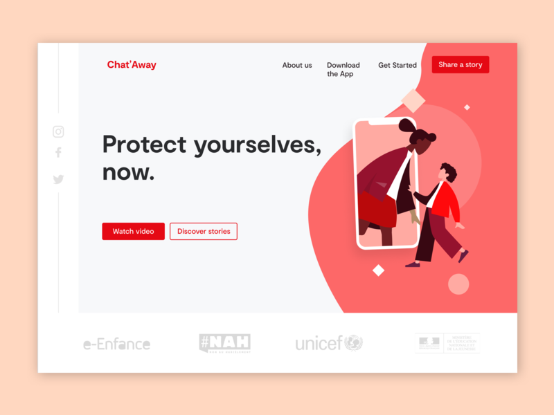 Chat'Away Homepage homepage vector ux flat concept ui sketch new interface dribbble design