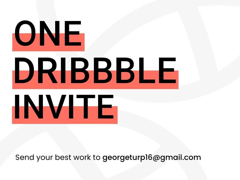 One Dribbble Invite design new simple ui debut shot sketch invite dribbble
