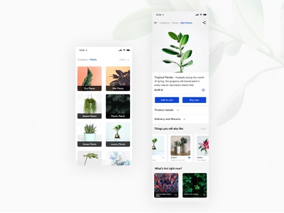Product pages ecommerce category plant garden product web vector ux concept app interface ui sketch dribbble design