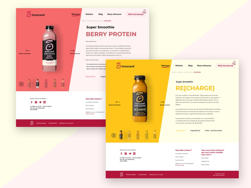 Product page branding web drink product ux interface concept app ui new sketch dribbble design