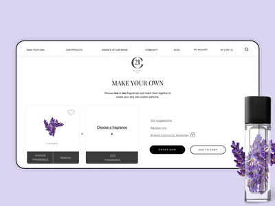 Create your own - High-end perfume brand