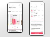 Stay fresh - drink app UI