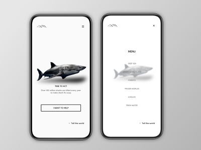 Social engagement concept quotes splash menu shark animal planet environment social branding interface concept ux sketch ui new dribbble design