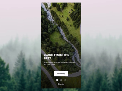 Photography app - Onboarding photo photography onboarding app mobile ui ux concept sketch new dribbble design