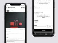 Photography App - Upload upload app mobile ux concept sketch ui new dribbble design