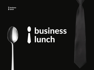 business  lunch spoon tie business food