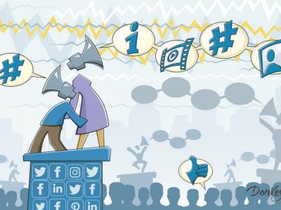 Social Media Marketing social digital ideographix hashtag. cartoon facebook twitter likes seo sem tweet marketing social media