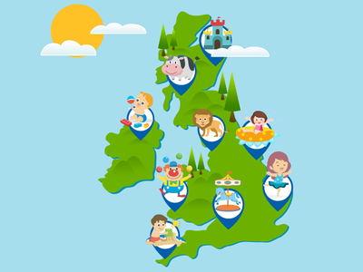 GOKIDS MAP illustration