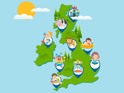 GOKIDS MAP illustration