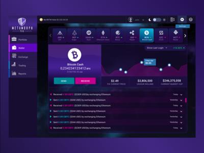 Cryptocurrency Wallet UI dashboard ui wallet ui design cryptocurrency