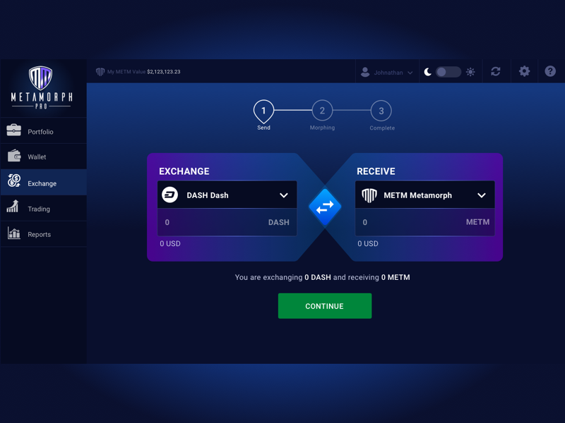 Cryptocurrency Echange UI Design dashboard dashboard ui echange ui design cryptocurrency