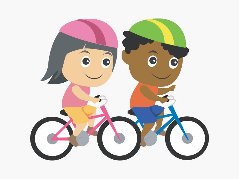 Children bike ride by Gytis Ceglys on Dribbble