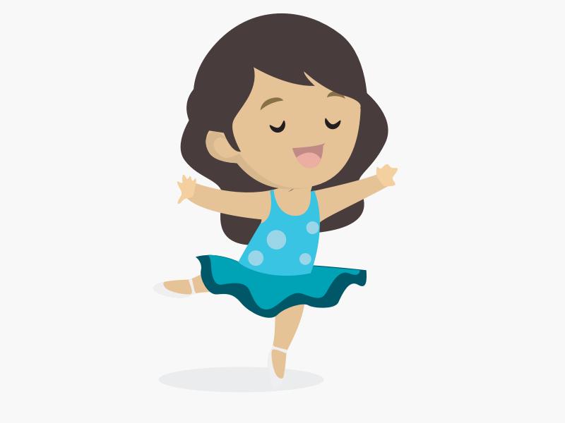 Girl dancing ballet cartoon ballet dance girl design illustration 2d illustration