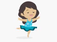 Girl dancing ballet
