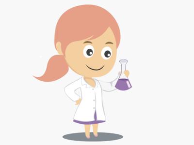 Girl chemist