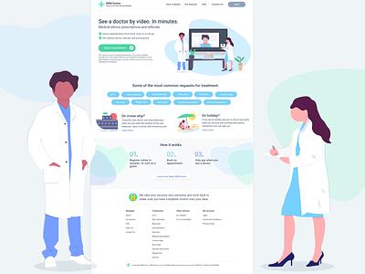 Website Homepage Design - Healthcare uxdesign homepagedesign medicine medical healthcare doctors branding icon ui 2d illustration