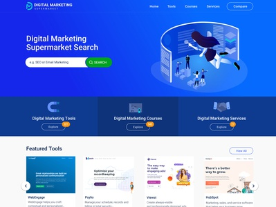 Homepage Concept blue header website header website header homepage marketing dashboard icon design dashboard ui illustration 2d illustration