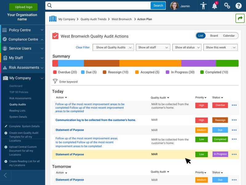 Management System - Task Management dashboard design quality audits task manager task list task management actions management tool software dashboard accessibility darboard ui dashboard management system
