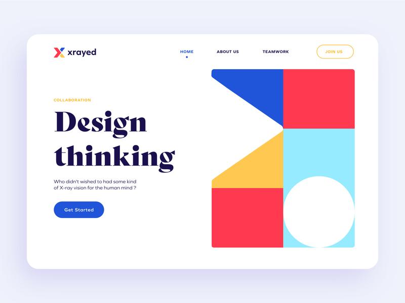 xrayed branding teamwork collaborative colors web design graphic design ui logo letter x x