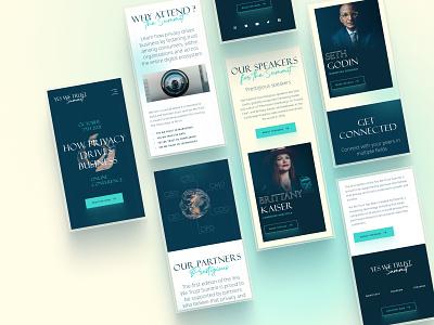 Yes We Trust Summit- Web integration art direction web graphic design ui branding design