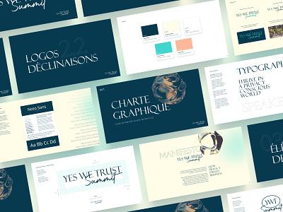 Yes We Trust Summit- Branding logo web art direction ui graphic design branding design