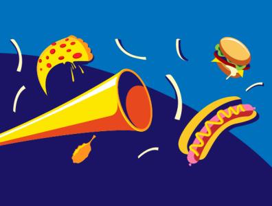 Fast food vector illustration