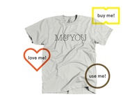 M You Shirt for Sale