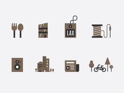 Categories icons illsutration