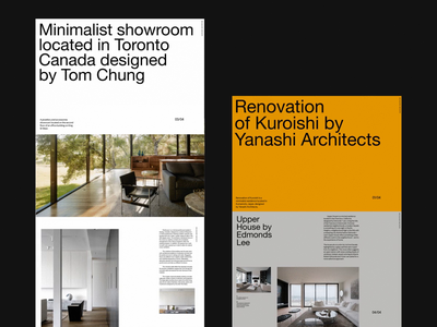 CH2 Architecture—Featured on Behance design clean whitespace minimal architecture grid website layout typography