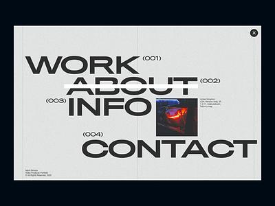 Video producer portfolio website design layout clean minimal whitespace typography producer video portfolio website