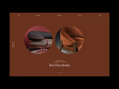 Furniture website concept header web whitespace grid design minimal website clean layout typography