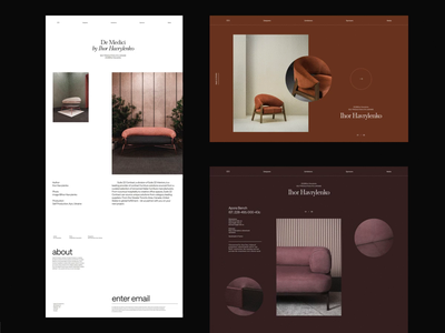 Furniture website concept interior furniture whitespace grid design minimal website clean layout typography