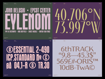 Monthly Typeface Selection minimal typographic typo type inspiration color layout typography