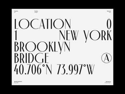 Monthly Typeface Selection inspiration whitespace design minimal clean layout typography