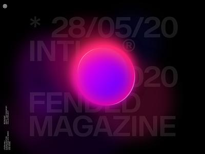 Fended'20 lightning glow design light typography