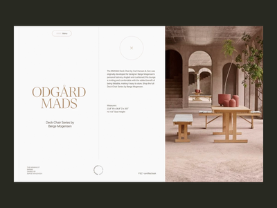 Børge Mogensen—Home Furnishing architecture interior furnishing header whitespace grid minimal layout website typography