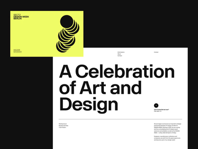 Design Week Berlin brand design color branding and identity branding design brand identity type typo website poster layout visual identity branding typography