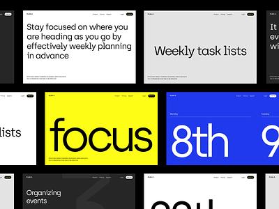 Design Direction branding and identity branding design branding web grid whitespace design minimal clean layout typography
