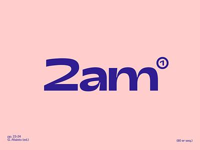 2am brand identity visual logo branding brand color typography