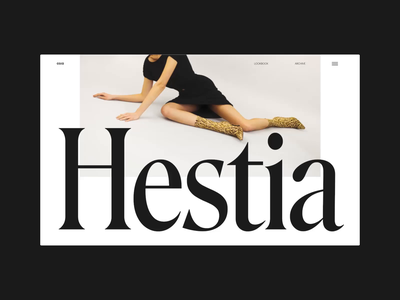 Hestia fashion editorial grid whitespace website design minimal clean layout typography