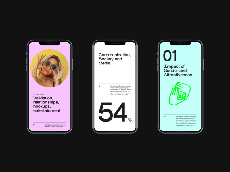 Dating app—Data and stats screens typo color stats dating app typography
