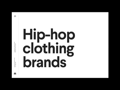 The Maturation of Hip-Hop's Brands simple deck grid whitespace design minimal clean layout typography
