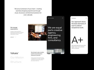 Digital Agency Website modern simple grid whitespace website design minimal clean layout typography