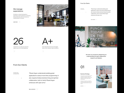 Digital Agency Website web grid whitespace website design minimal clean layout typography