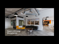 ORU Office Spaces header clean grid whitespace web animation animation minimal layout typography interior design website interior
