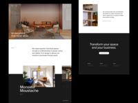 ORU Office Spaces Homepage grid whitespace website design minimal clean layout typography