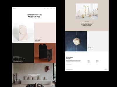 Goodfield Website web grid whitespace website design minimal clean layout typography