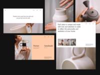 Sallyb. grid whitespace website design minimal clean layout typography